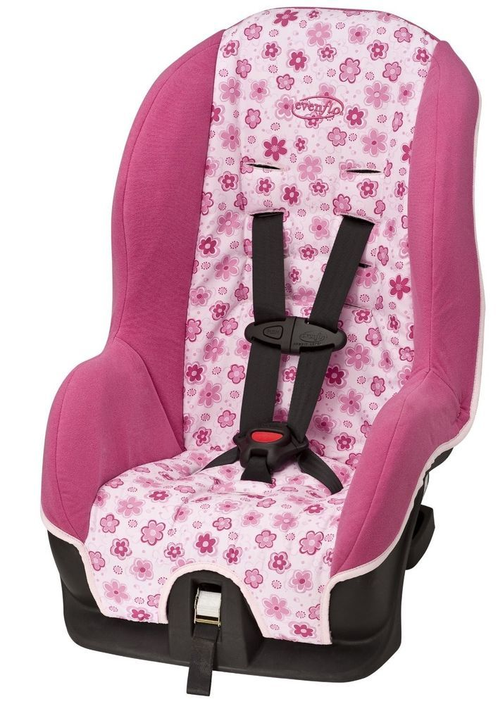 Evenflo Sport Convertible Car Seat Adjustable Front Rear Facing Pink Flowers