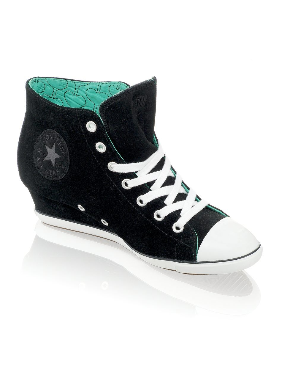 ad7094b2fb6 High Heel Converse. The way the heel is connected fully to the shoes is  what I want.