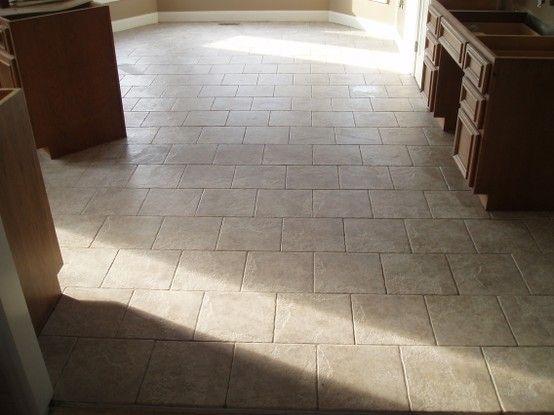 laying 12x12 tiles on a brick pattern