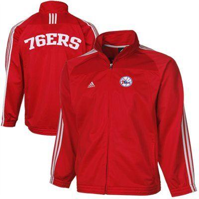 cheaper 5e502 b2b7a adidas Philadelphia 76ers Youth Full Zip Track Jacket - Red ...