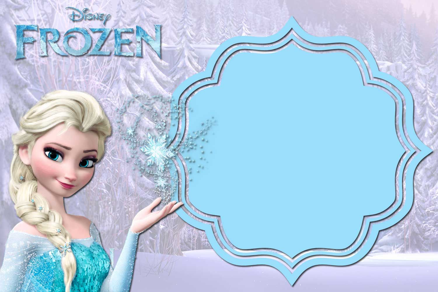 picture regarding Free Printable Frozen Invites identified as Pin upon Birthdays