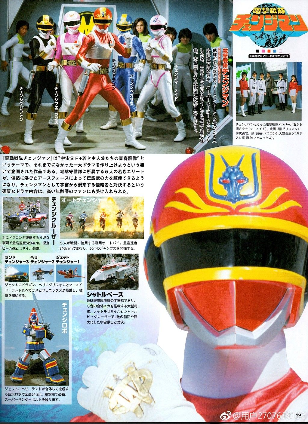 USED Changeman 1985 Official Guide Book Japanese Super Sentai Power Rangers