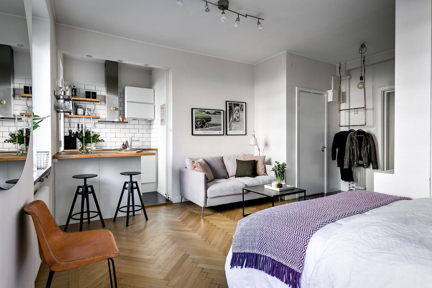 Cozy One Room Apartment In Perfect Style Apartment Bedroom Decor Apartment Room Small Apartment Bedrooms