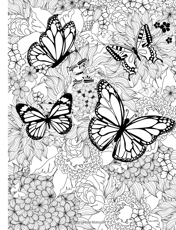 Adult Coloring Book Butterflies And Flowers Stress Relieving Patterns Volume 7 Cherina Kohey 978 Butterfly Coloring Page Mandala Coloring Coloring Pages