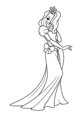 Ausmalbild Tanzende Prinzessin Ausmalbilder Prinzessin Malvorlage Prinzessin Ausmalen