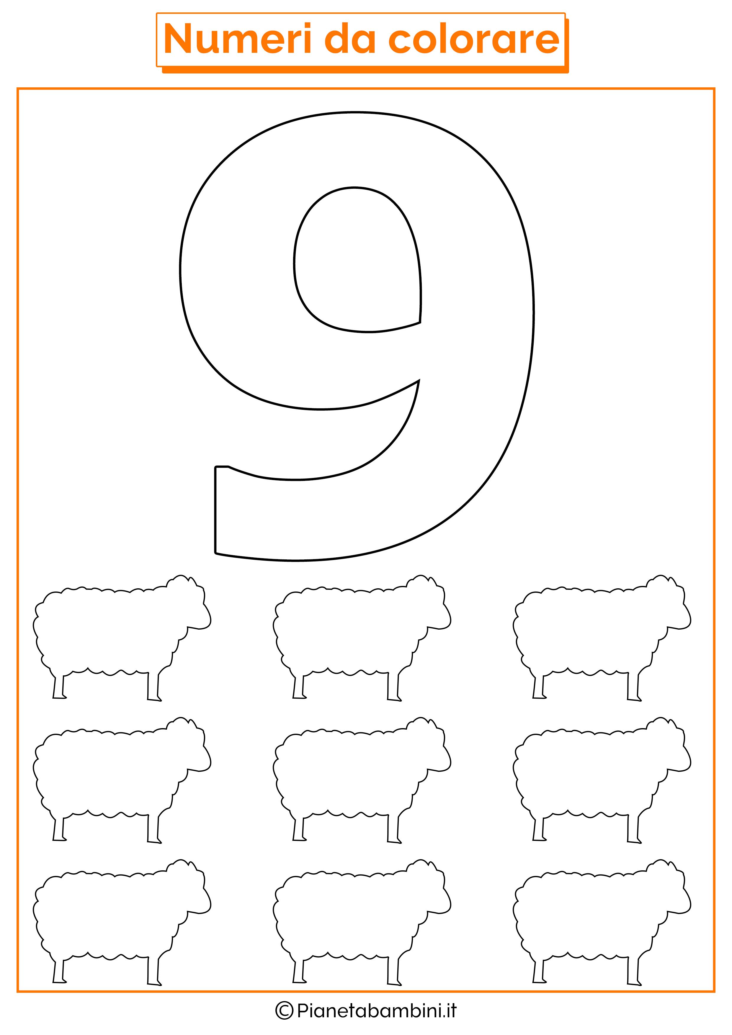 Numeri Da Stampare Colorare E Ritagliare Per Bambini Numeri Attivita Con I Numeri Giochi Di Numeri