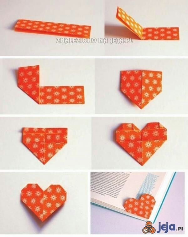 Origami Heart Bookmark Tutorial Diy Pinterest Heart Bookmark
