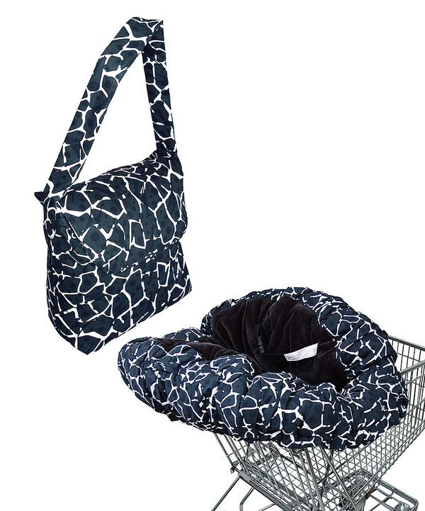 Another great find on #zulily! Floppy Seat Black Giraffe Deluxe Shopping Cart Cover by Floppy Seat #zulilyfinds