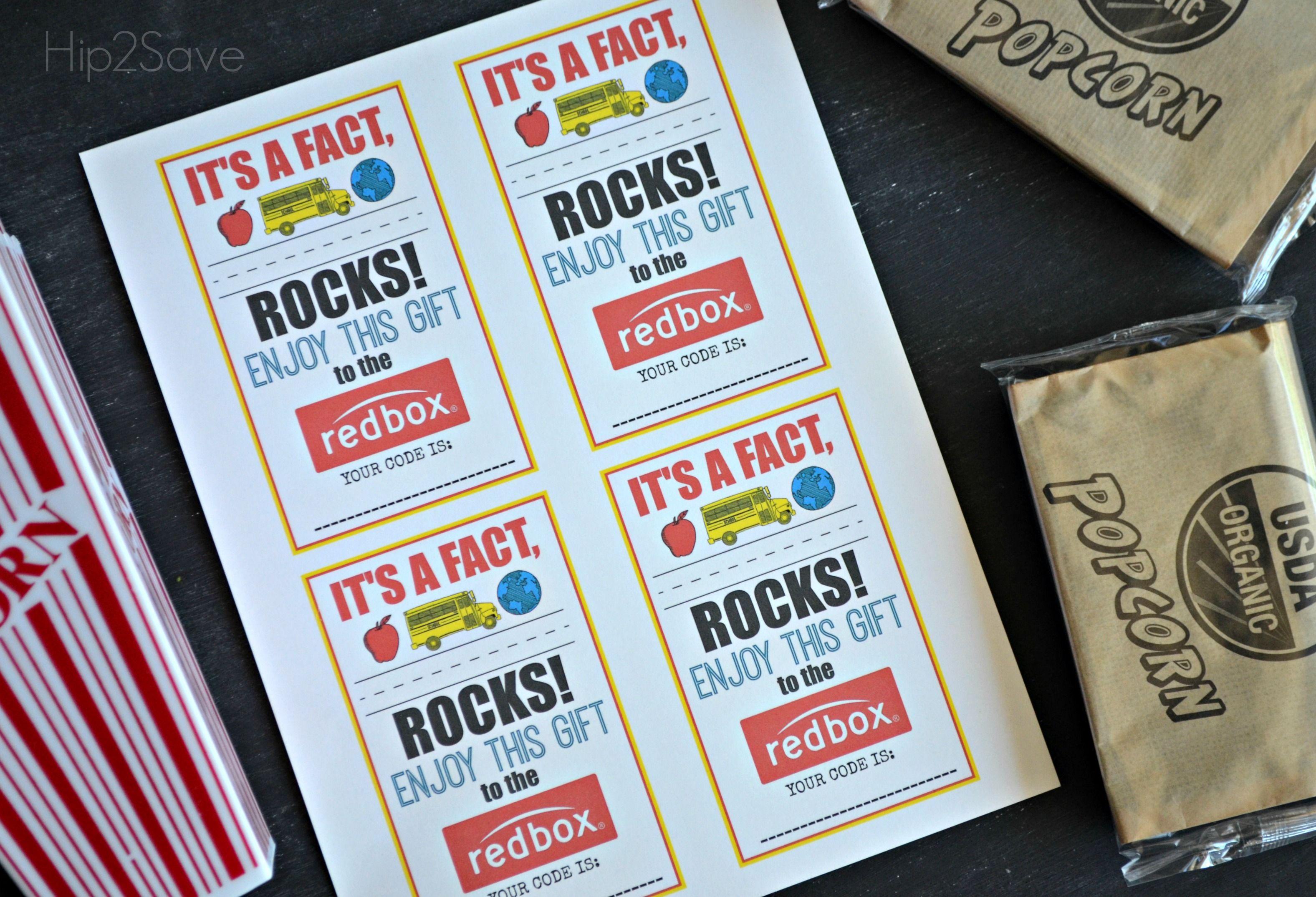 teacher appreciation gift idea gift a redbox code free