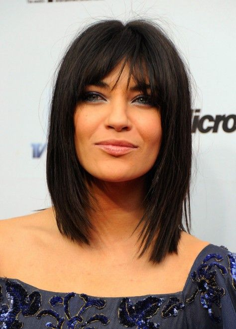 Jessica Szohr Medium Choppy Layered Straight Cut with ...