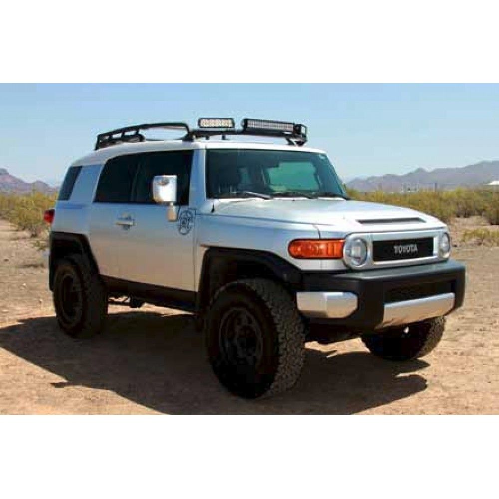 Rigid Industries Toyota Fj Cruiser 05 Up Roof Rack Led Light Bar Mount Fj Cruiser Toyota Fj Cruiser Led Light Bar Mounts