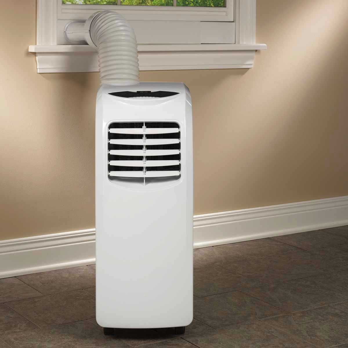 A Small Air Conditioner For Room Under The Window
