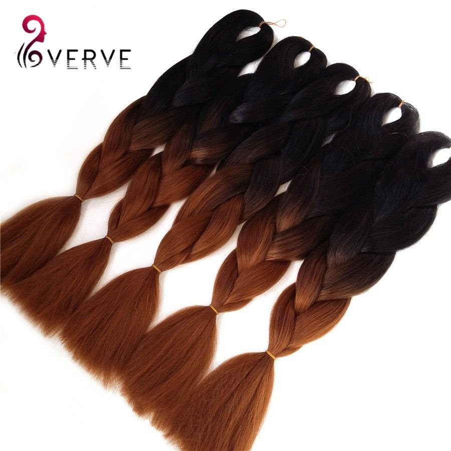 Synthetic two tone high temperature fiber braiding hair piece