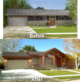 This impressive exterior update can add thousands of dollars to your homes value home decor House transformations exterior