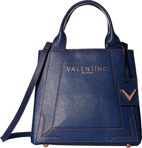 Valentino Bags by Mario Valentino Womens Audrey Blue Denim Handbag ... 2fcc85dfb1534