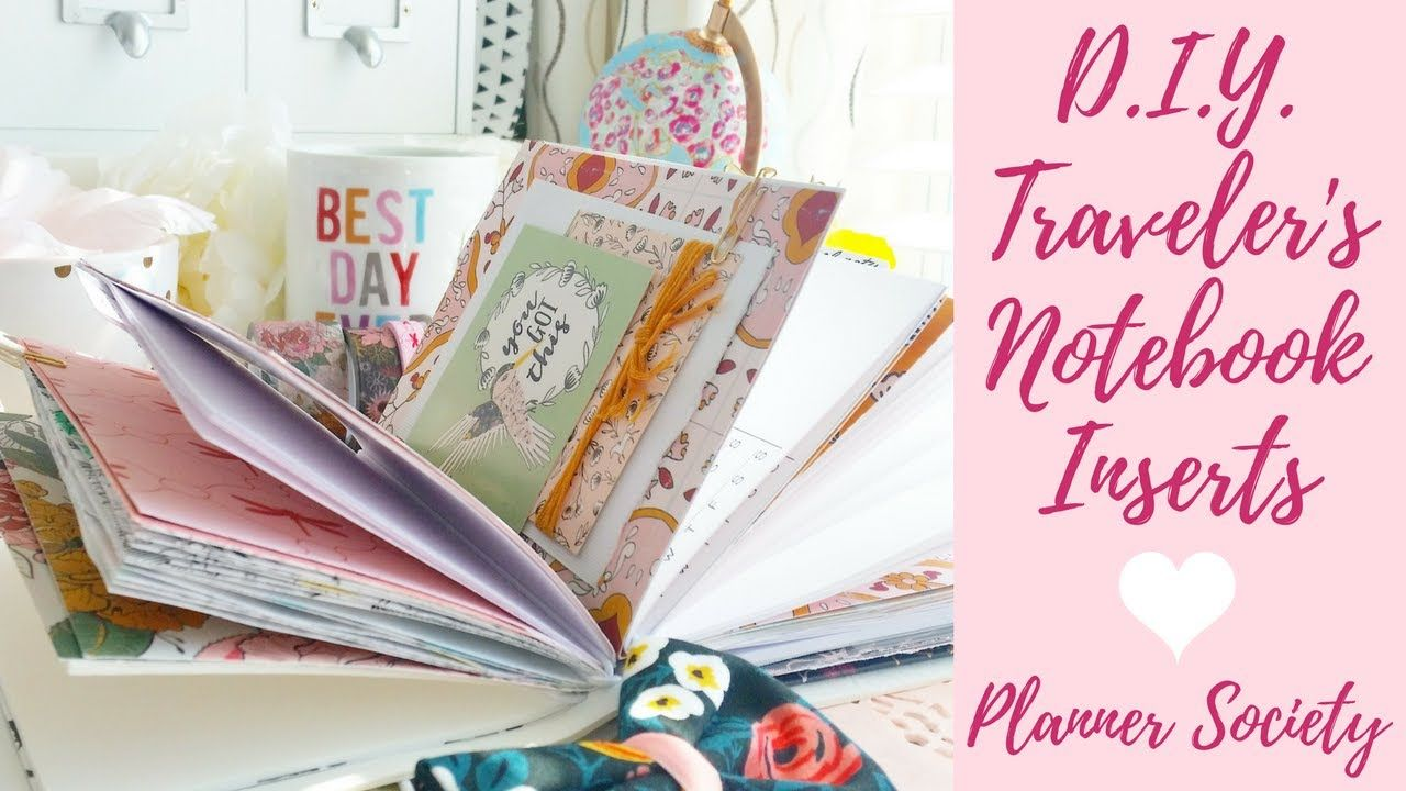 How I Made DIY Traveler's Notebook Inserts April Planner