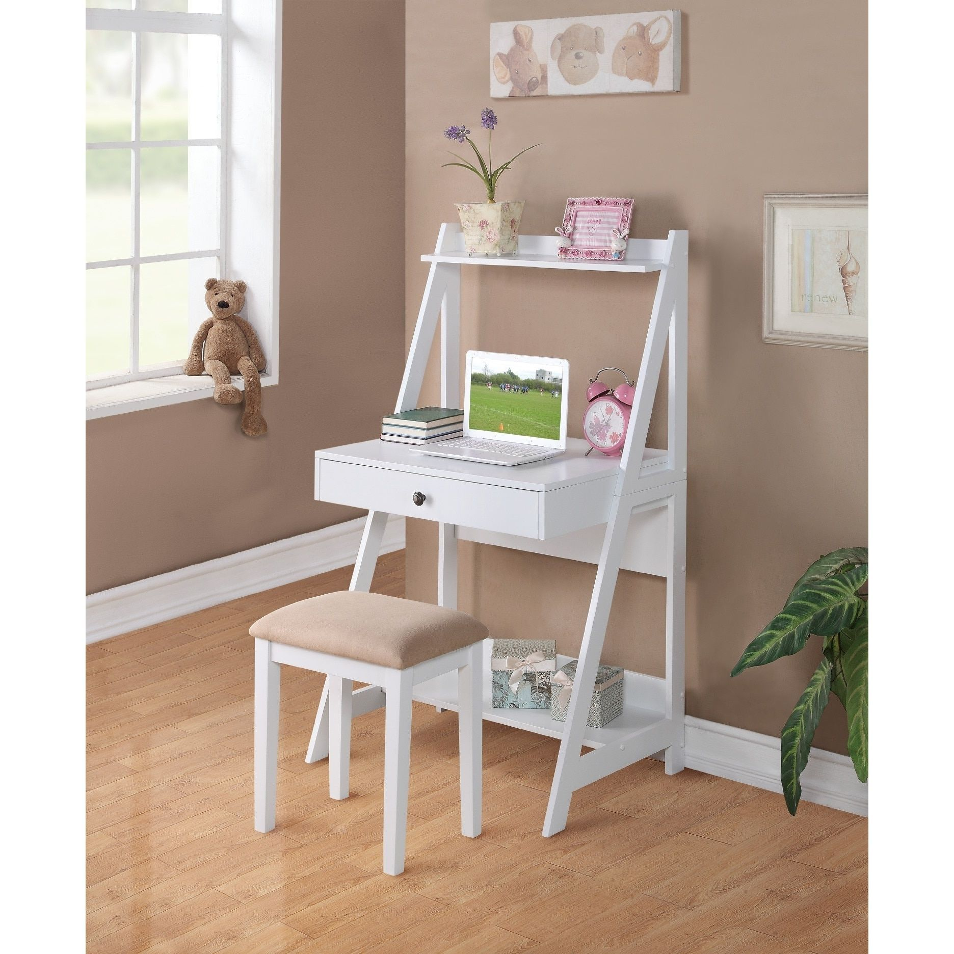 Prime Sauder Writing Desk W Stool Hacer Y Vender In 2019 Gmtry Best Dining Table And Chair Ideas Images Gmtryco