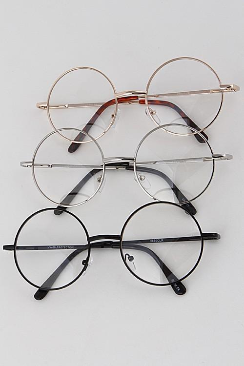 Photo of Clear Circle Frame-Brille