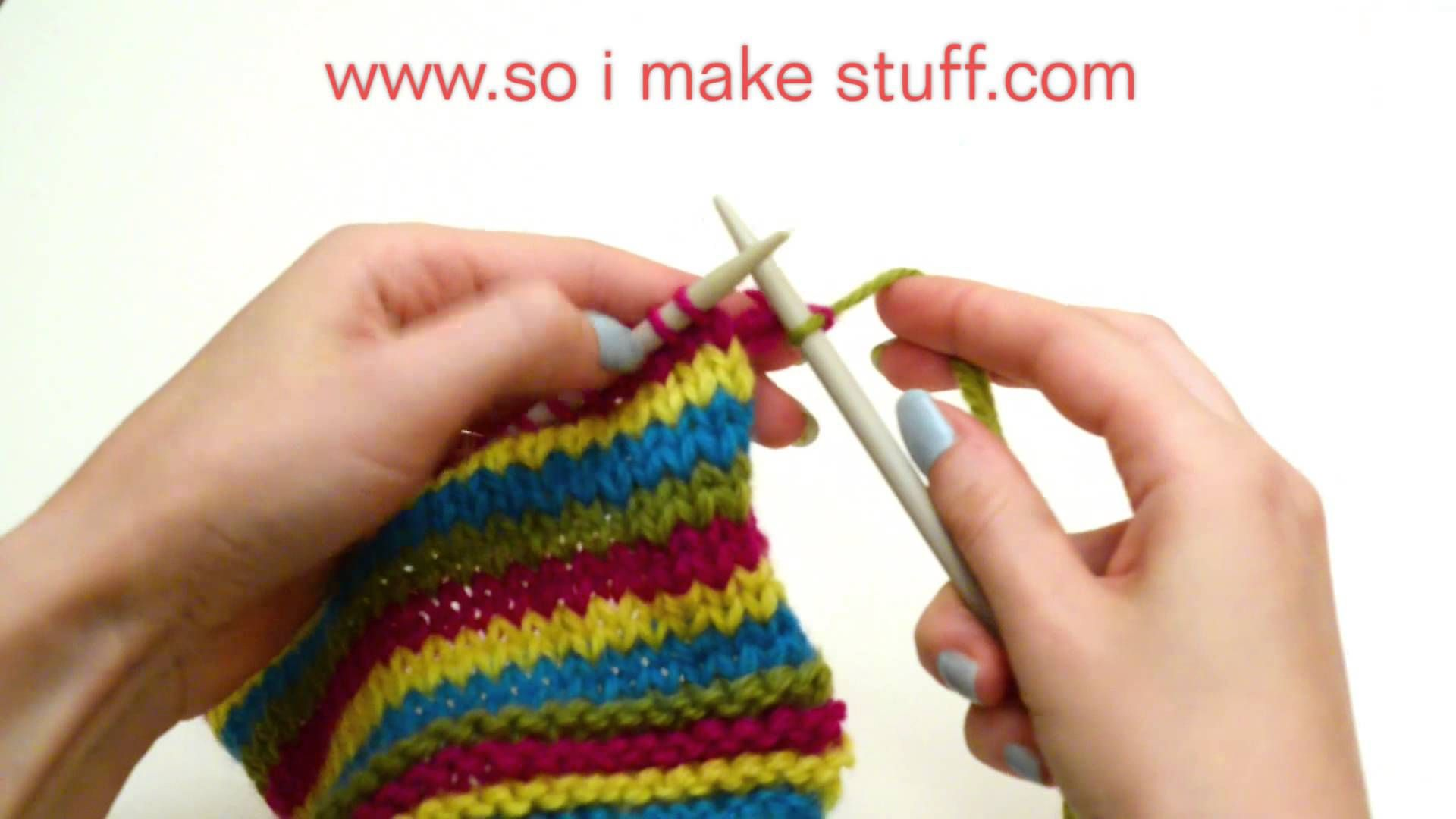 Weave in ends as you go Knitting, Knitting tutorial, Weaving