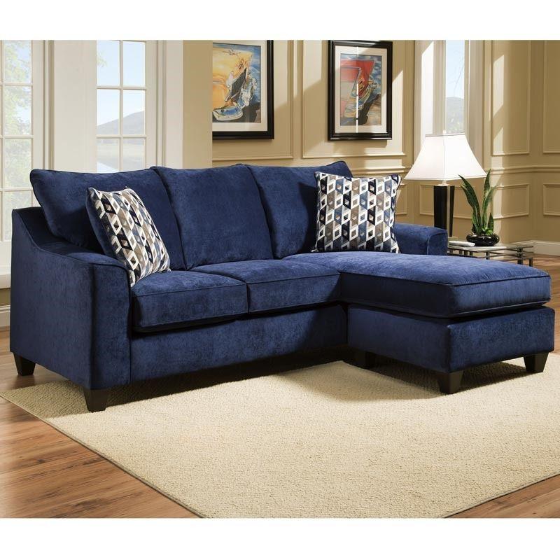 Elizabeth Indigo Microfiber Sofa Chaise Weekends Only Furniture
