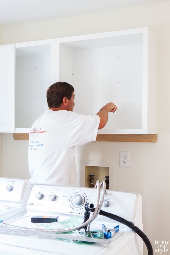 I Wish Knew Just How Easy Installing Wall Cabinets Was Would Have Hung Then In My Laundry Room Years Ago Step By Tutorial Showing To Hang