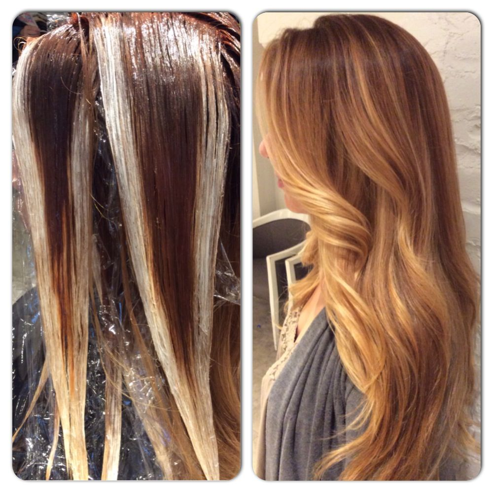 How To Balayage Hair Paint Honey Ginger Dimensional Blonde Hair