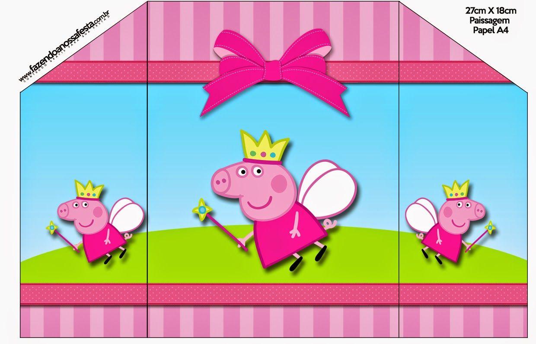 Peppa Pig Fairy: Free Printable Invitations. | cards | Pinterest
