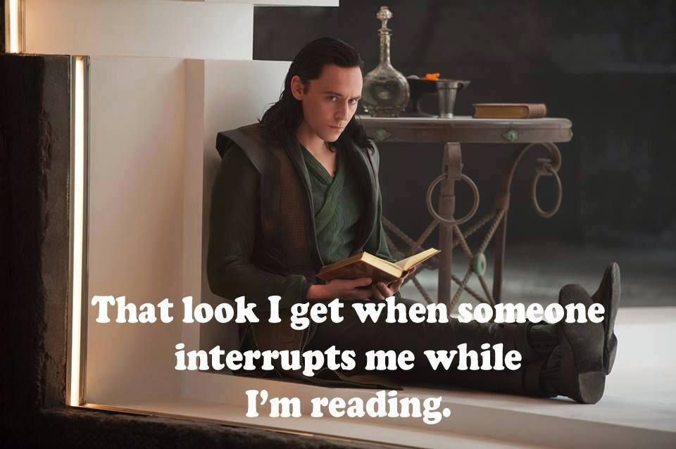 Loki with a book. This, my friends, is called a Win-Win!