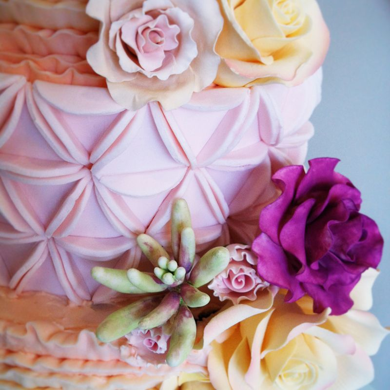 A Close Up Of Our Batik Cake By White Cakery Co
