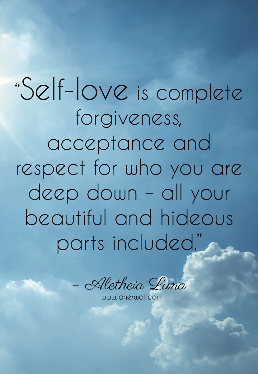 """Self love runs deeper than just feeling """"good"""" about yourself"""