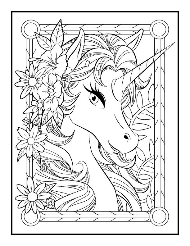Unicorn Coloring Book - Jade Summer | "|612|792|?|False|f3f8054554bf3b27614596f68545370f|False|UNLIKELY|0.3770715892314911