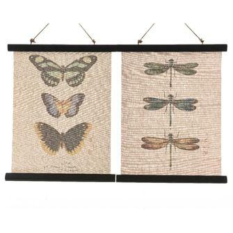 Wanddoek Canvas Vlinder Insect 40x51 Cm Kopen Karwei Vlinders Insecten Canvas