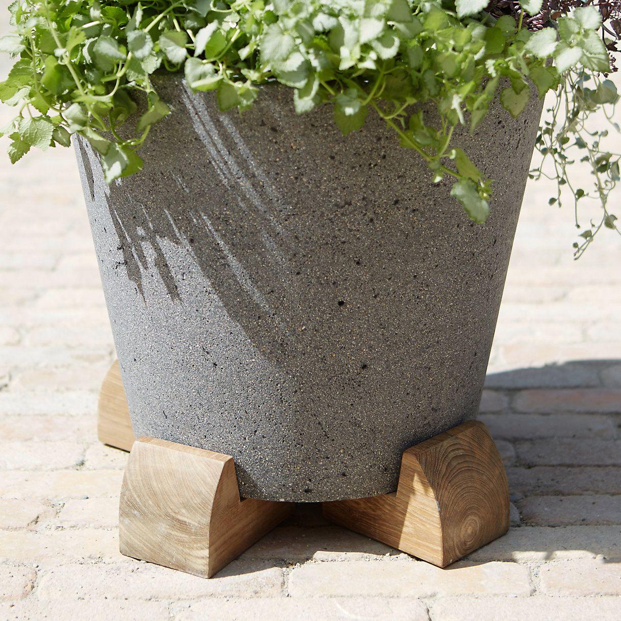 Round Teak Pot Feet Set Of 4 Diy Pots Diy Planters Indoor Indoor Planters