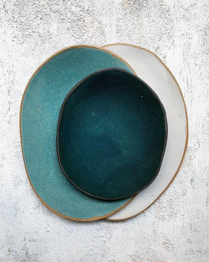 "Hana Karim on Instagram: ""About the g r e e n s • • • #ceramics #plate #pottery #turquoise #blue #dinnerware #stoneware #makersgonnamake #modernceramics…"""
