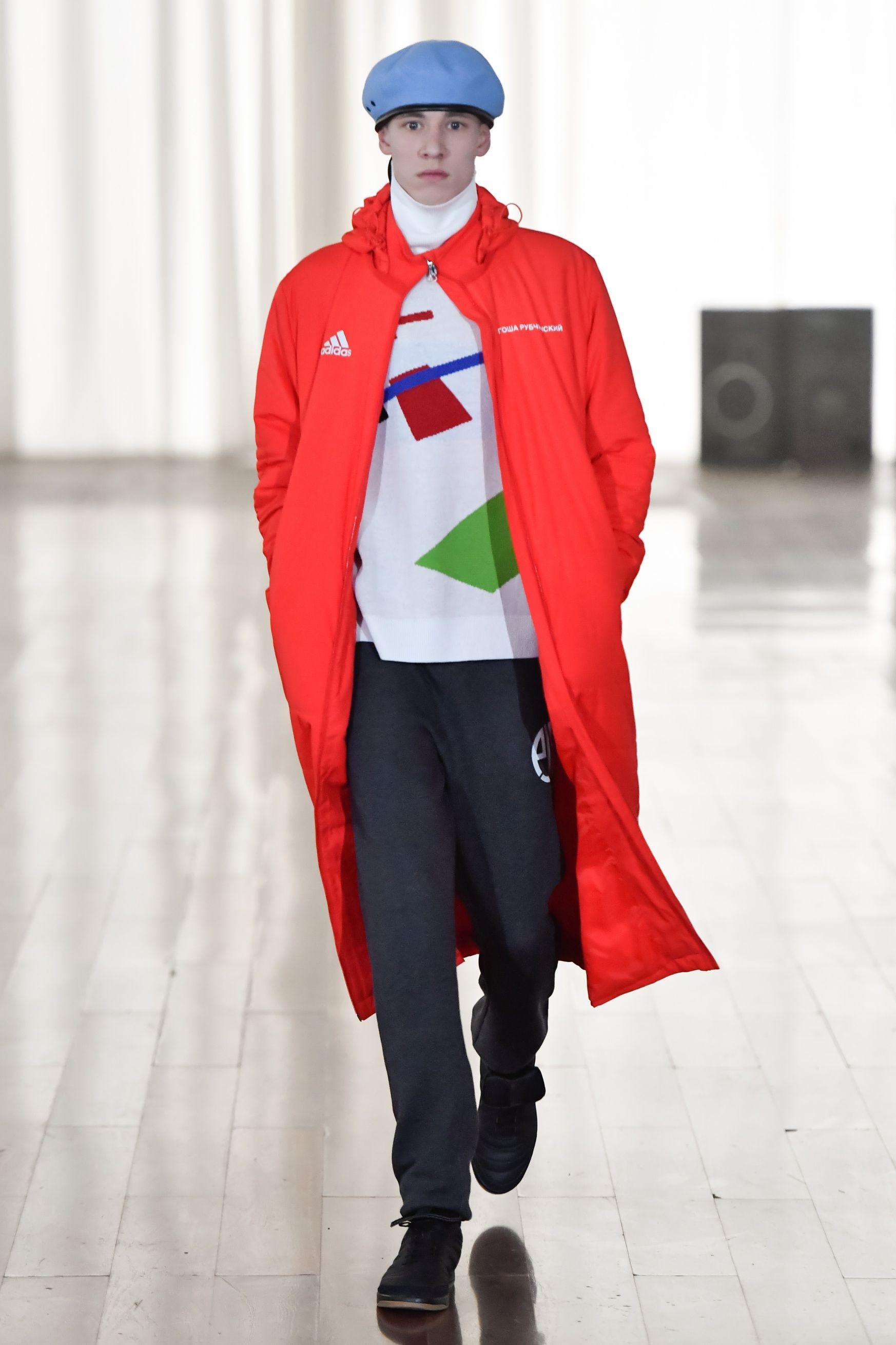 Gosha Rubchinskiy Adidas Padded Coat In Red Modesens Adidas Football Padded Coat Gosha Rubchinskiy