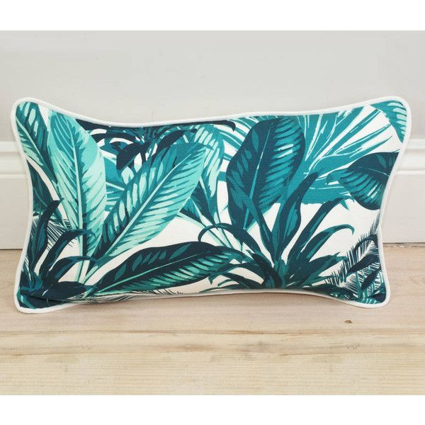 LITTLE PARADISE Tropical Palm Print Bolster Throw Pillow. ($58) ❤ liked on Polyvore featuring home, home decor, throw pillows, bolster pillow, tropical accent pillows, linen throw pillows, decorative bolster pillow and tropical home decor