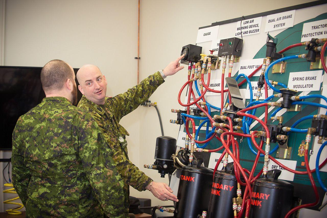 sergeant robert thomson   service battalion demonstrates  operation   airbrake