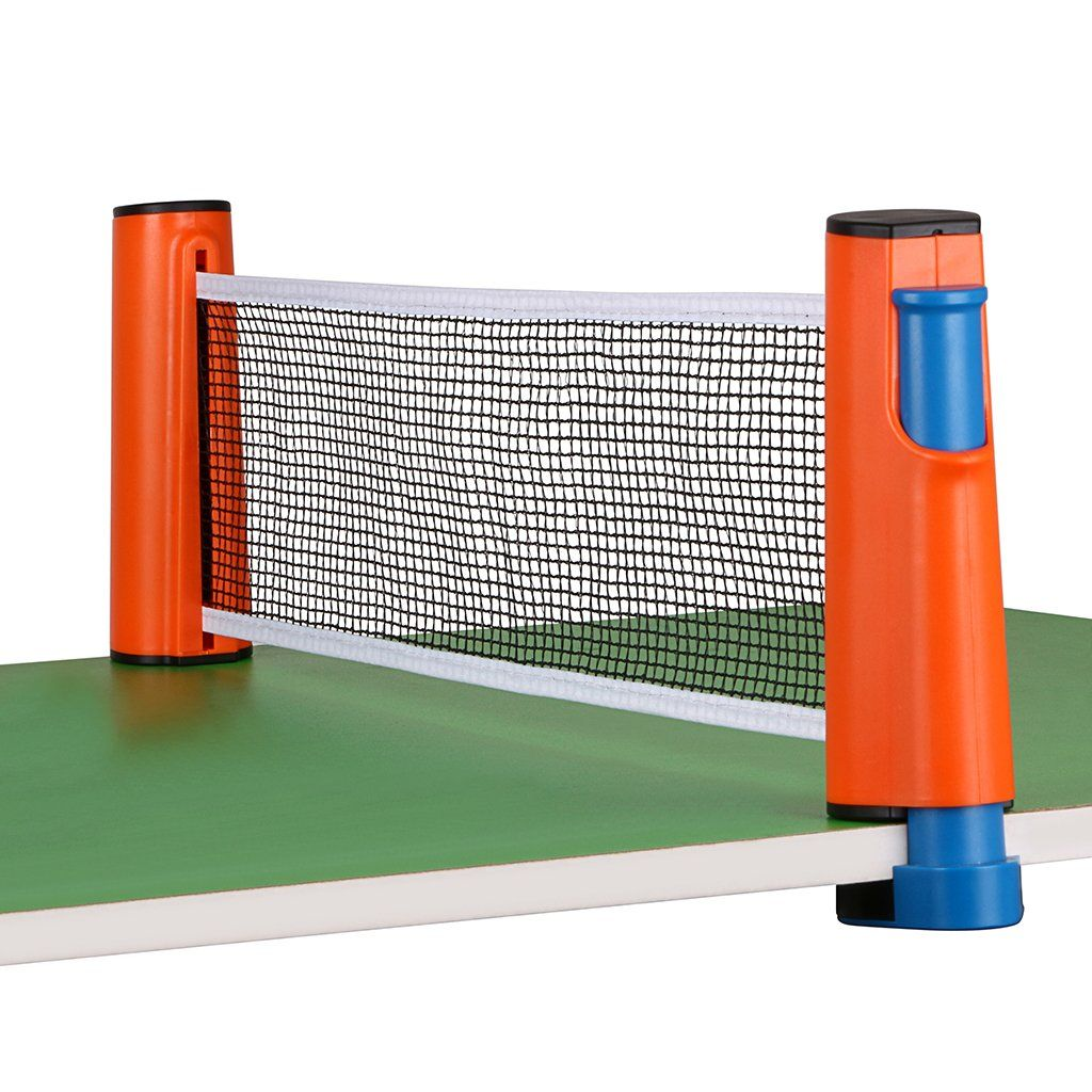 Hipiwe Retractable Table Tennis Net Replacement Ping Pong Net And Post With Pvc Storage Bag 6 Feet 1 8m Fits Table Pvc Storage Table Tennis Table Tennis Net