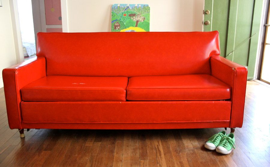 Castro Convertible Sofa Sleeper A Clic Original Cherry Fire Engine Red
