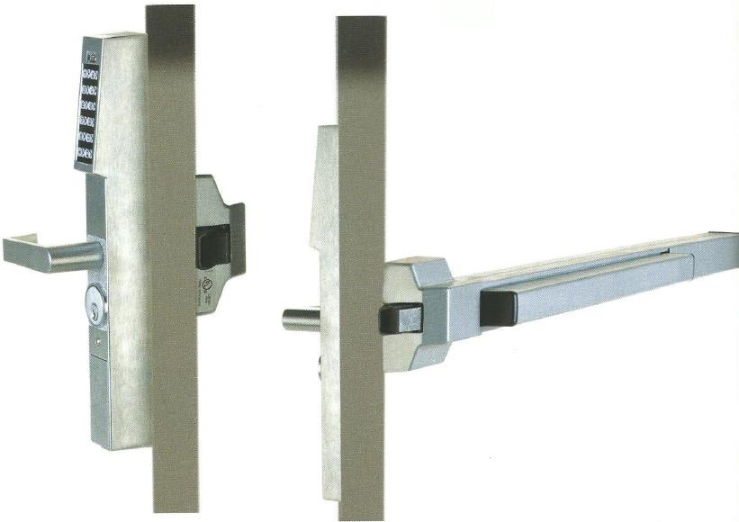 Keyless Access Lock Panic Bar Exit Digital Lock Keyless Lock