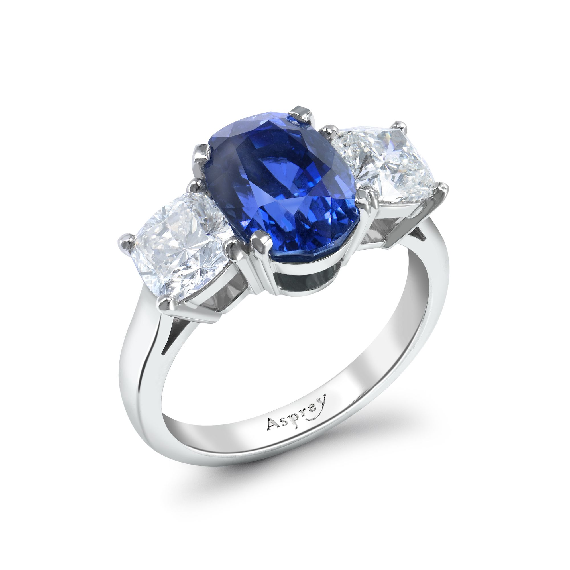 more dark engagement blue ring gia sapphire views rings platinum tcw cushion royal natural certified