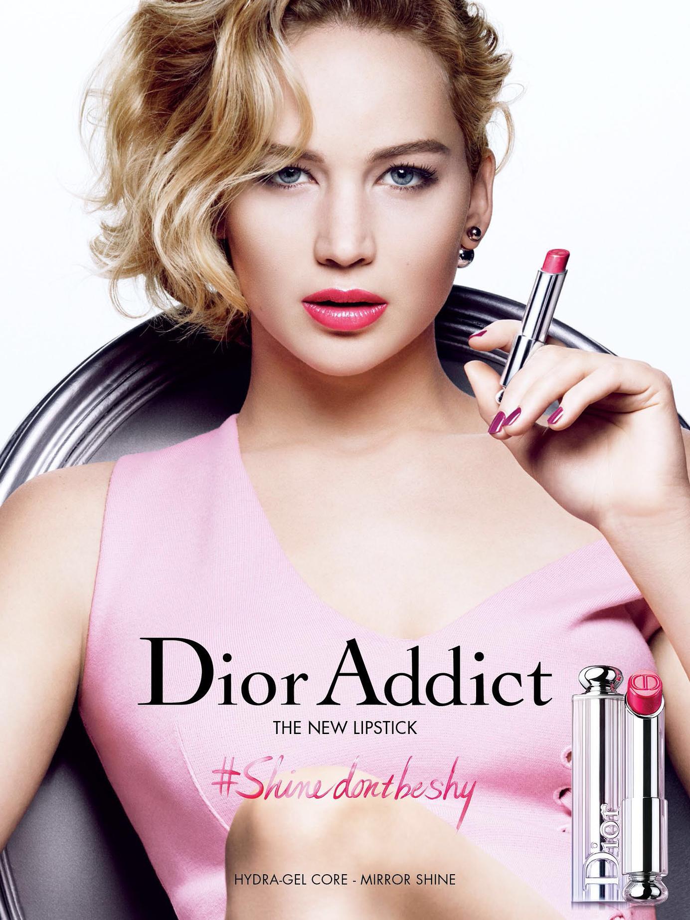 "JENNIFER LAWRENCE | DIOR PARIS COSMETICS ""DIOR ADDICT "" CAMPAIGN  ADVERTISEMENT | Dior addict lipstick, Dior beauty campaign, Dior beauty"