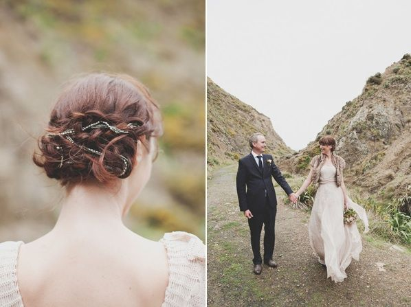Soft And Rustic New Zealand Wedding Once Wed Wedding Hair Pieces Boho Bridesmaid Hair Wedding Hairstyles