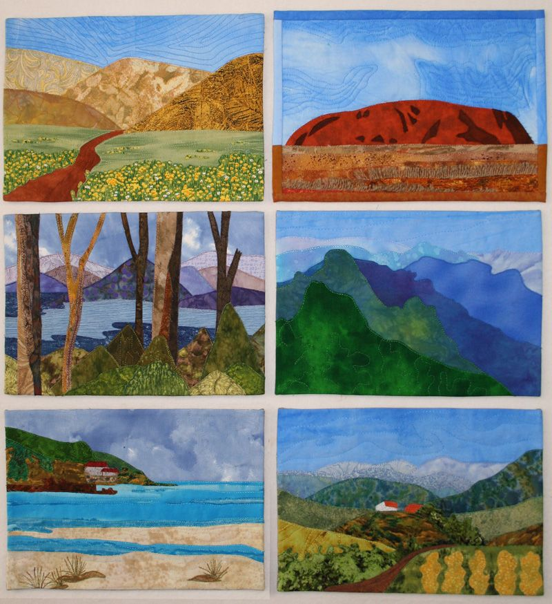 How To Create A Landscape Quilts | HOW TO CREATE A REALISTIC LANDSCAPE QUILT (Reminds of the National Parks)