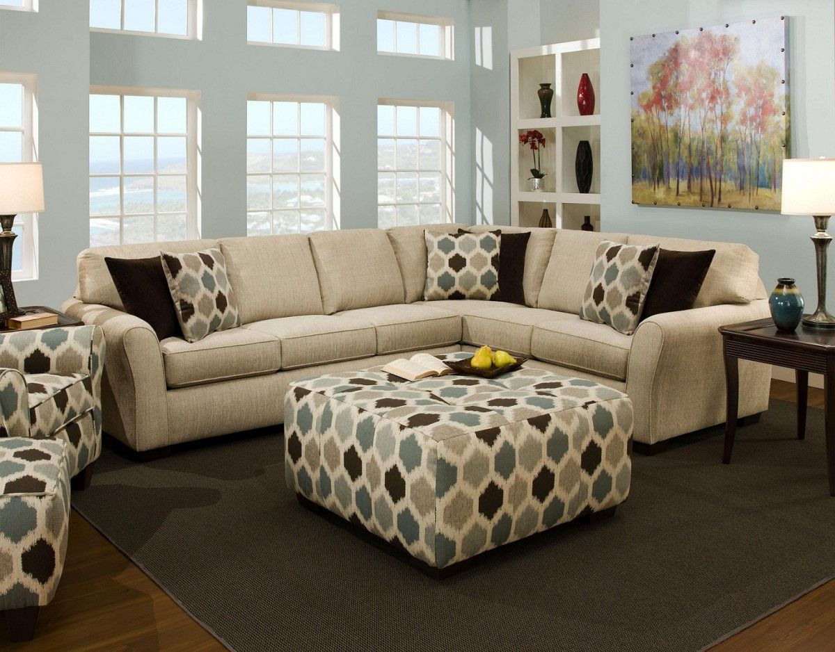 Furniture Awesome Grey Square Fabric Ottoman Coffee Table Upholstered Can Be Alternative Seat And Also Padded