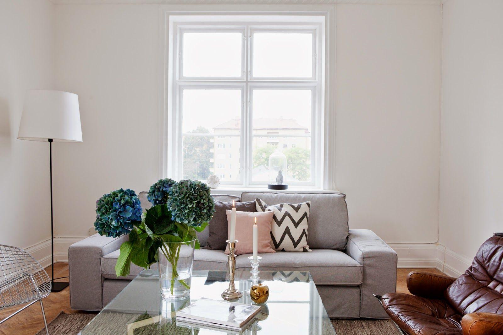 A Calm White Blue And Cognac Malm Home Living Pinterest  # Tapar Muebles Feos