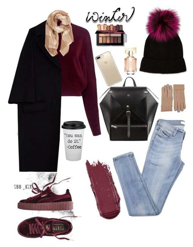 """""""WINTER SWEATER 003"""" by alice-muzi ❤ liked on Polyvore featuring Neiman Marcus, McQ by Alexander McQueen, Marni, Puma, Speck, MANGO and HUGO"""
