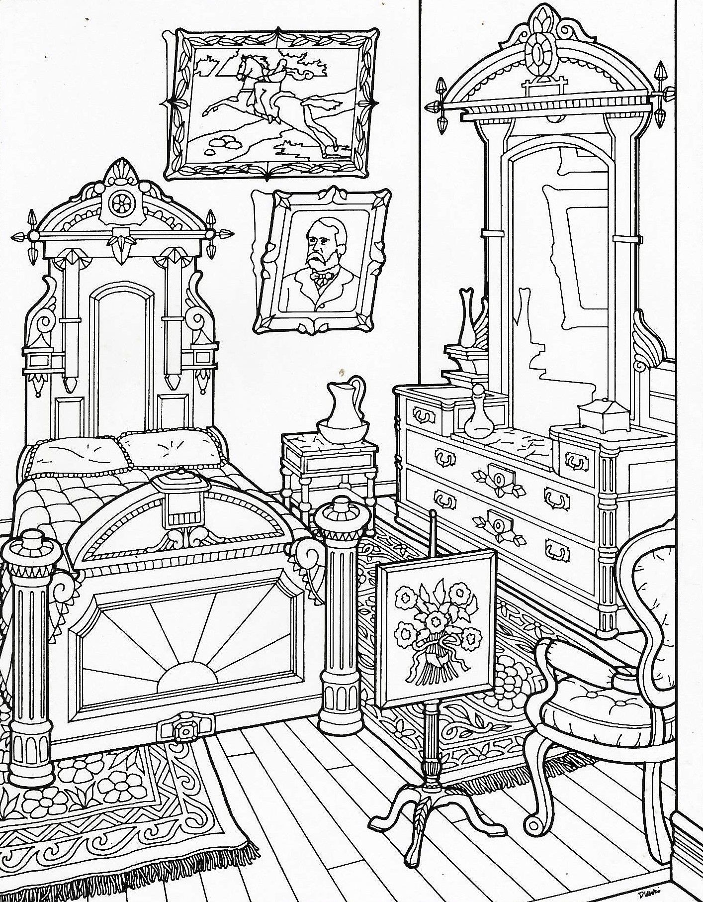Victorian Home coloring page History