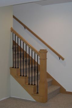 Part Wall Mounted Part Spindle Stair Rail Then Curved Banister End   Google  Search | Reno Ideas | Pinterest | Stair Railing, Stairs And Home