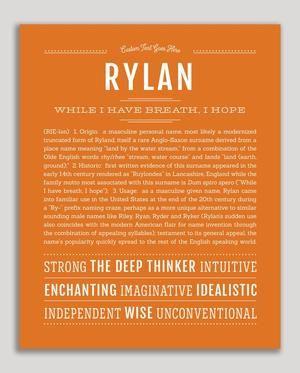 Rylan | Classic Name Print | Classic names, Names, How to ...